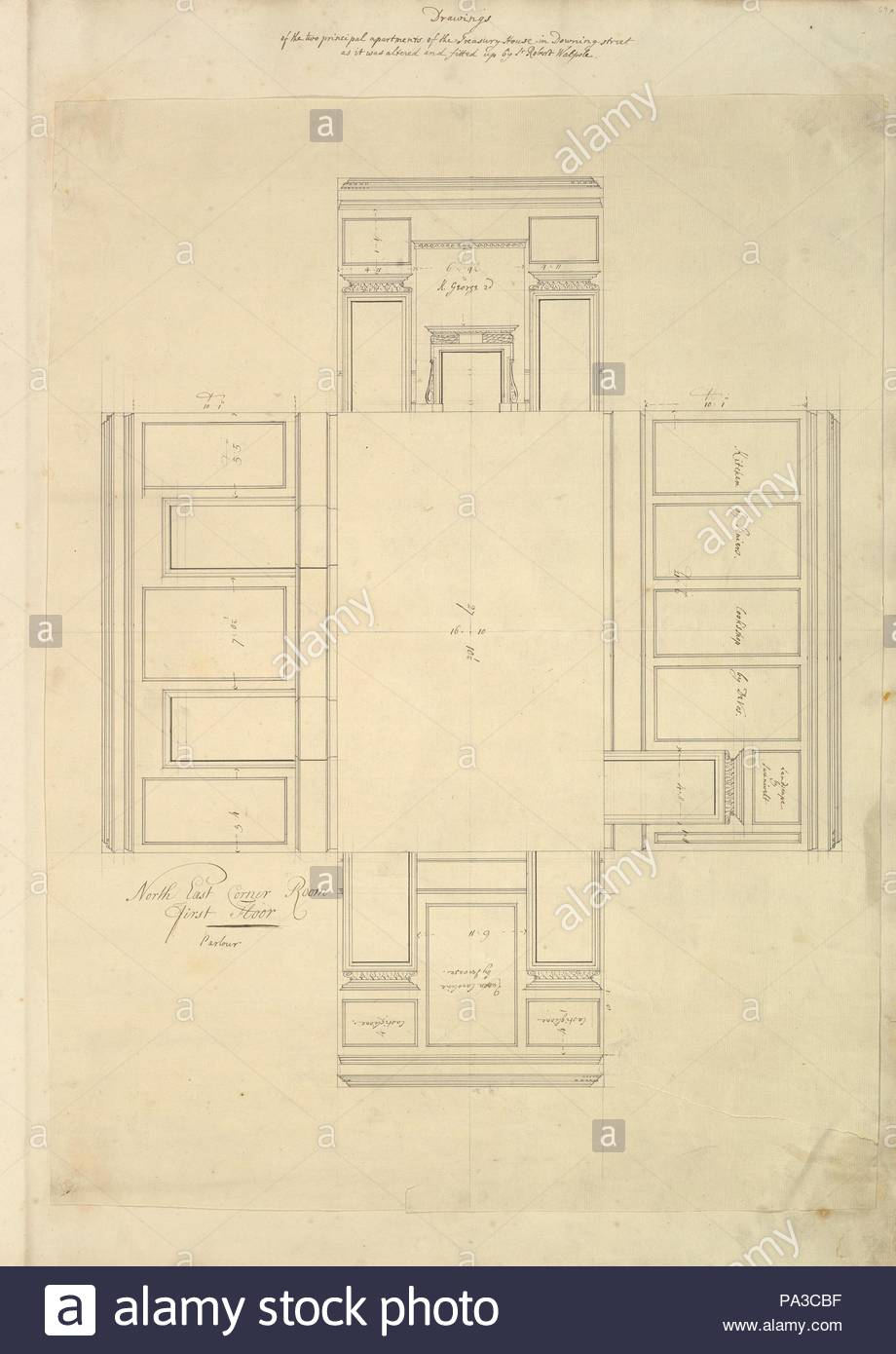 1732 42 Stock Photos Images Alamy X475 Wiring Diagram Treasury House 10 Downing Street London Plan Of The First Floor Parlor