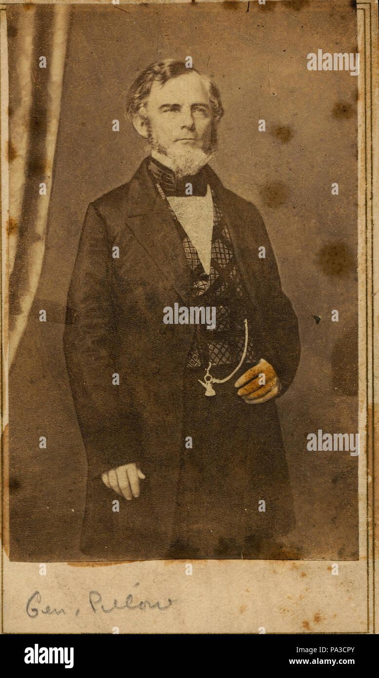 711 Gideon Johnson Pillow, General (Confederate) - Stock Image