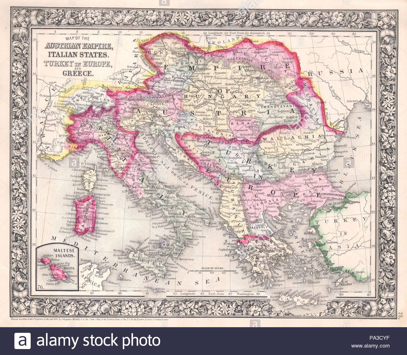 Map italy greece world map full maps 1864 mitchell map of italy greece and the austrian empire stock 1864 mitchell map of italy gumiabroncs Choice Image