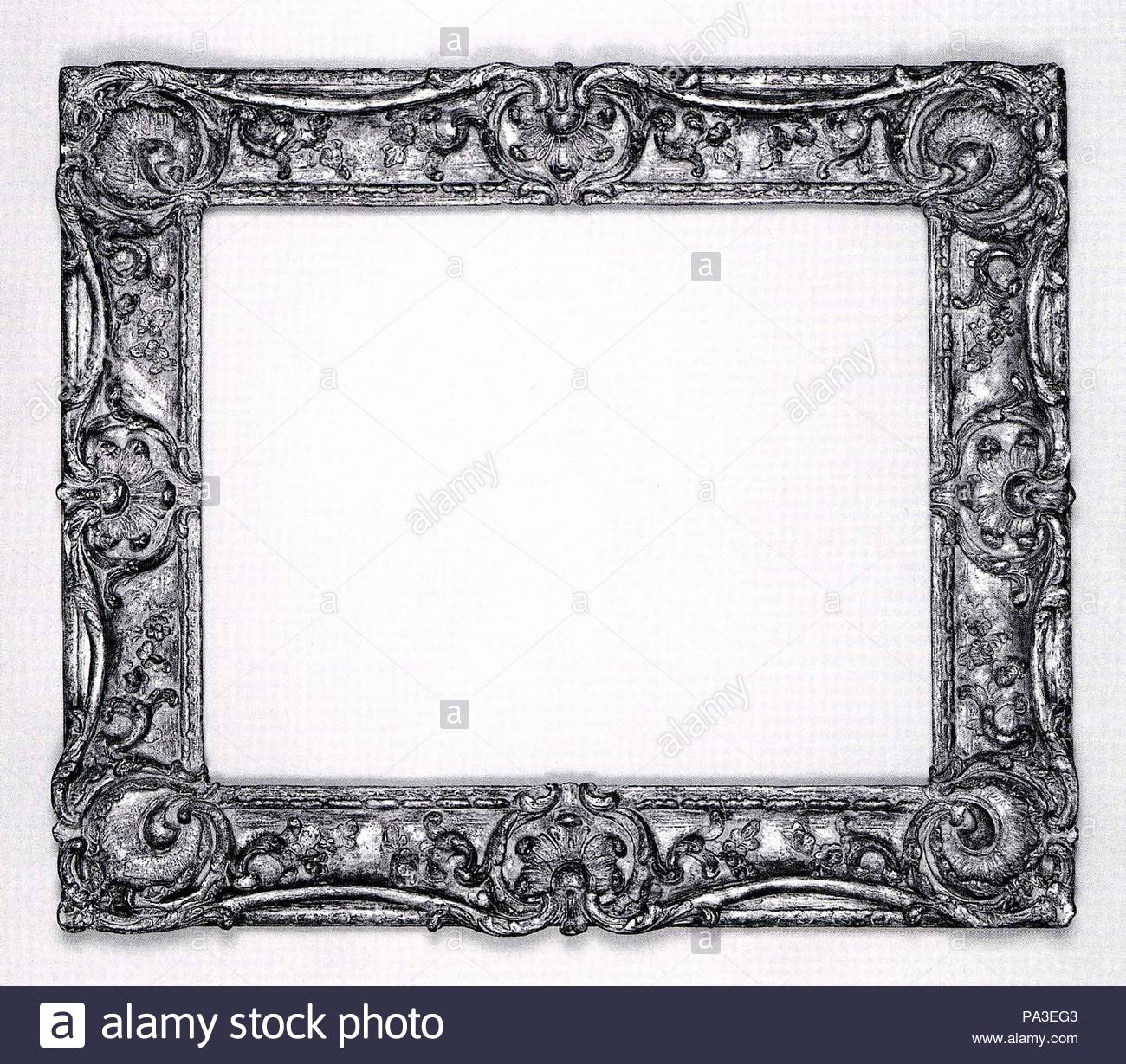 Swept frame, 1752–55, French, Lyon, Oak lower moldings and feather