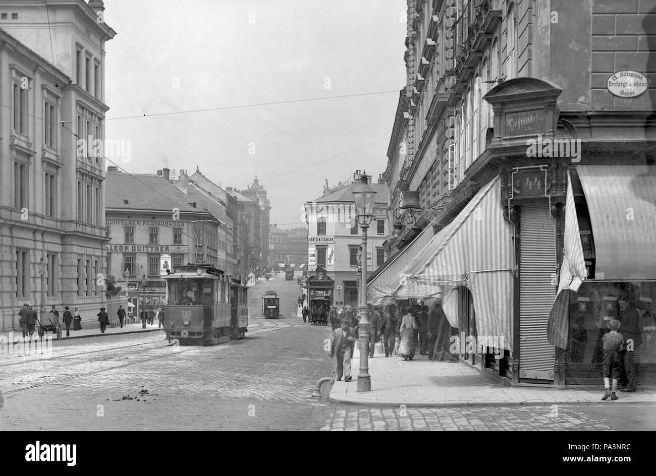Währingerstraße, Type G 733 und p, etwa um 1906 333 Währinger Straße ~1906 Stock Photo