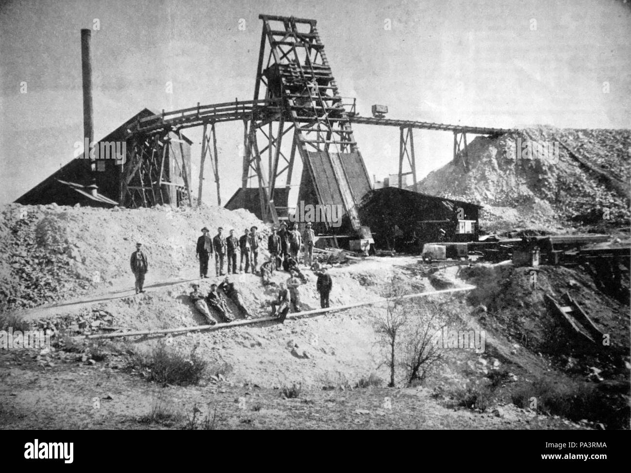 717 Good Hope Mine, between Perris and Lake Elsinore, Riverside County, California - Stock Image