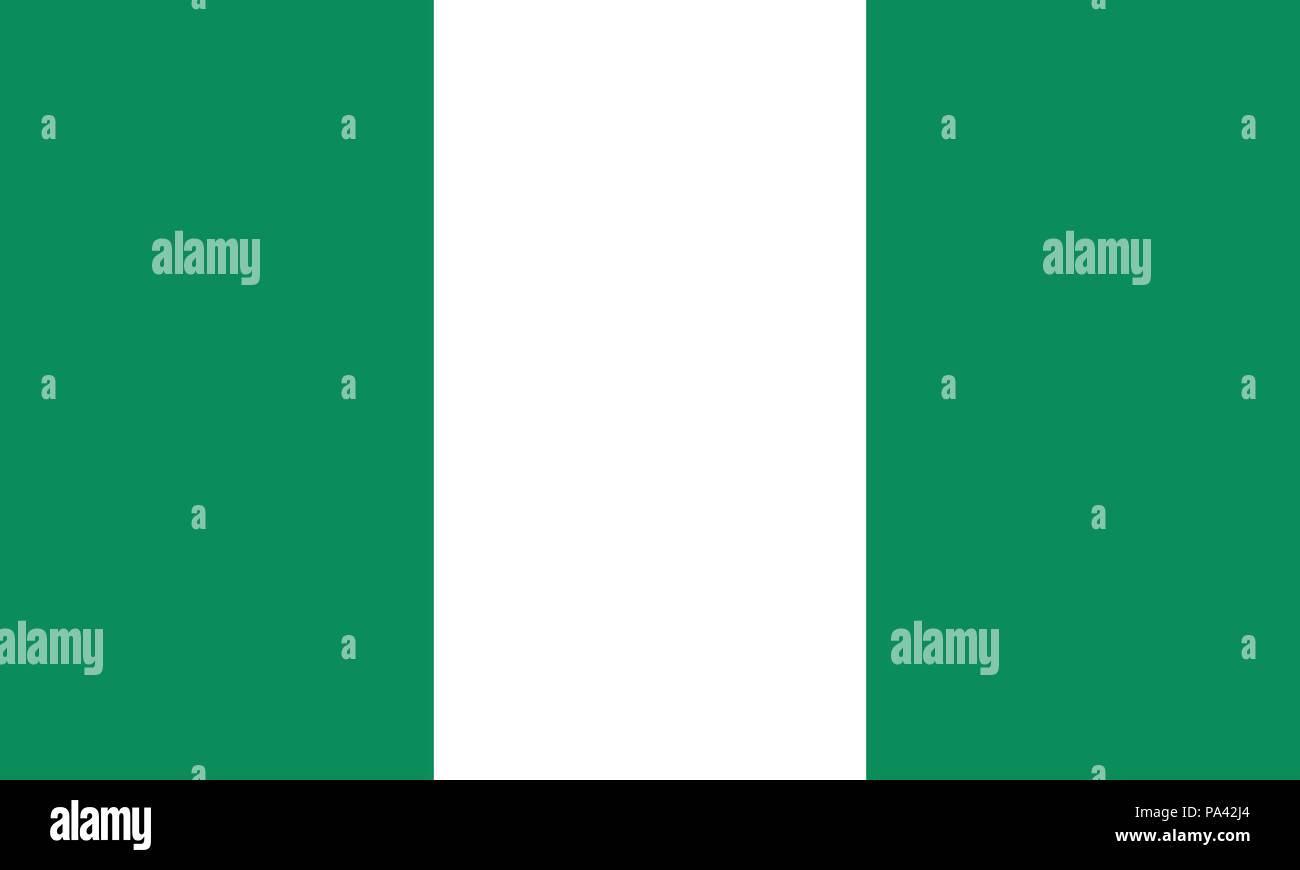 Detailed Illustration National Flag Nigeria - Stock Vector