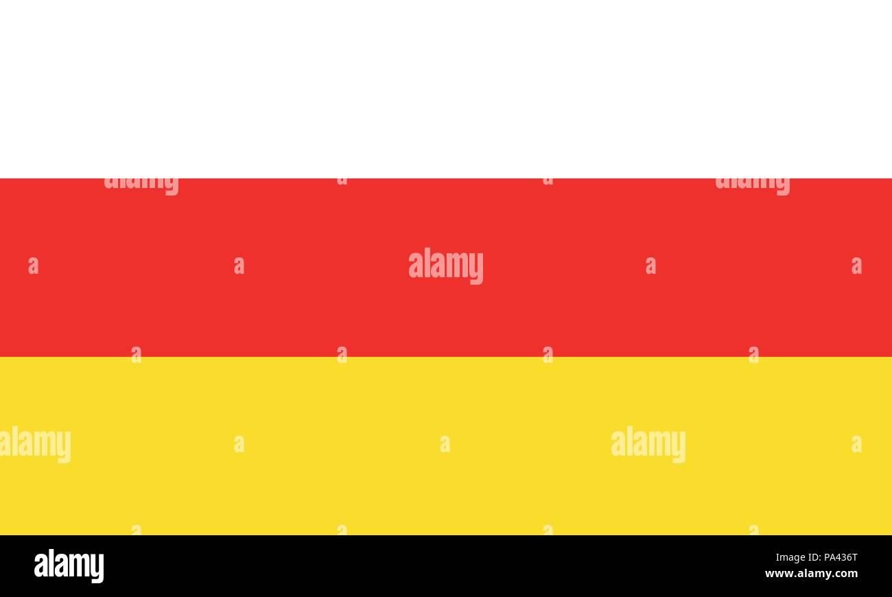Detailed Illustration National Flag South Ossetia - Stock Image
