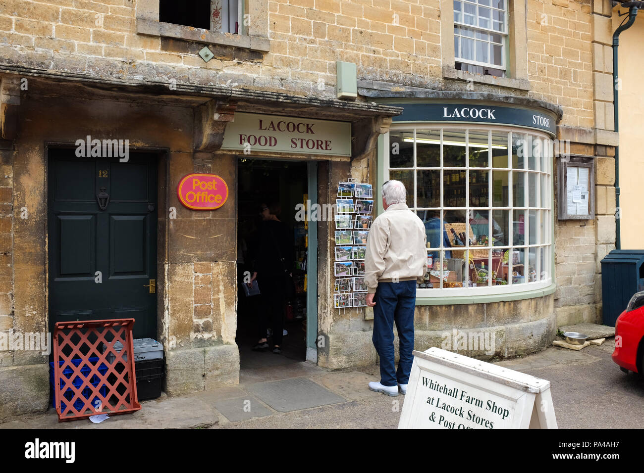 A small shop in the village of Lacock in Wiltshire, England. Stock Photo