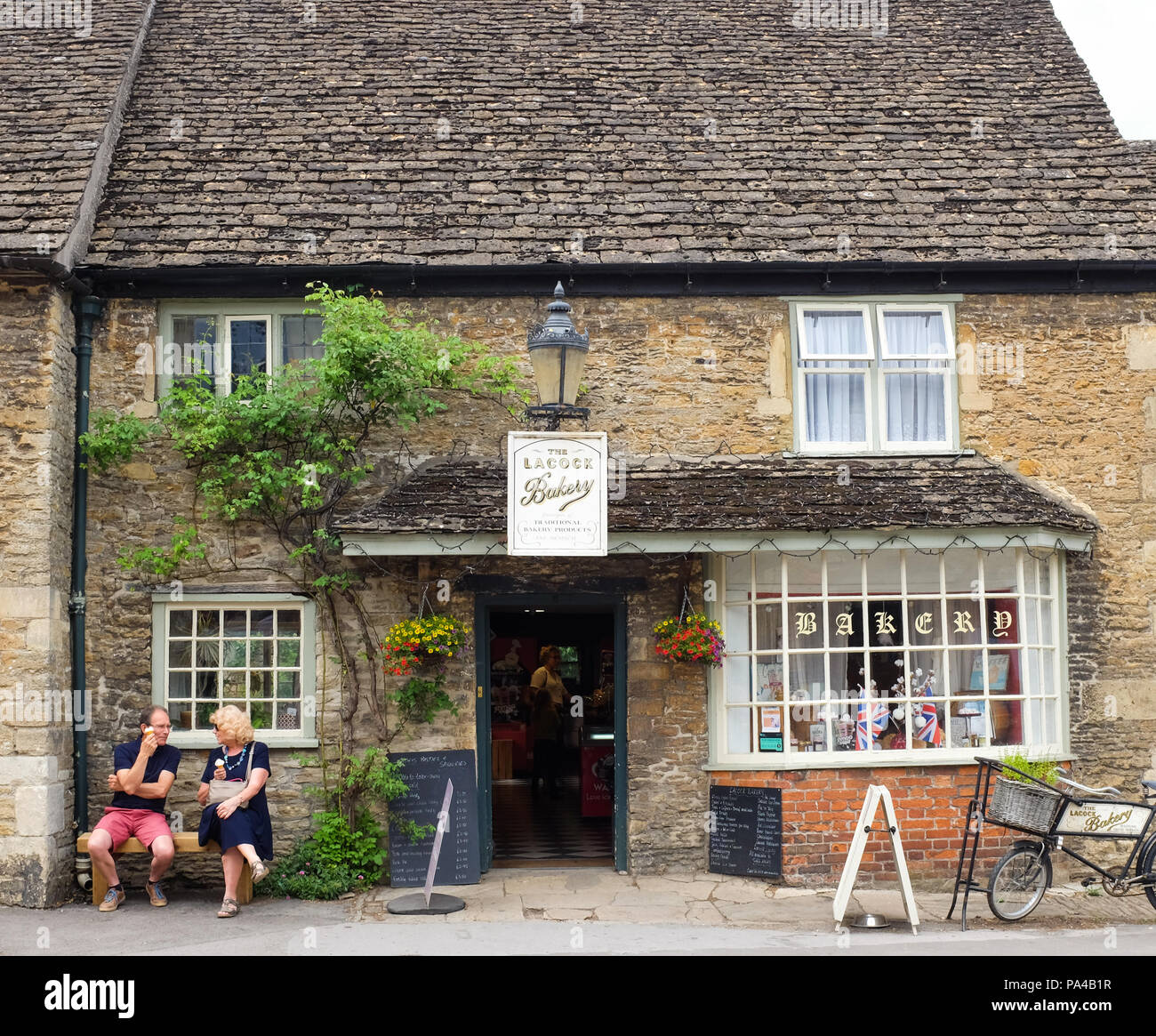 The bakery in the village of Lacock in Wiltshire, England. - Stock Image