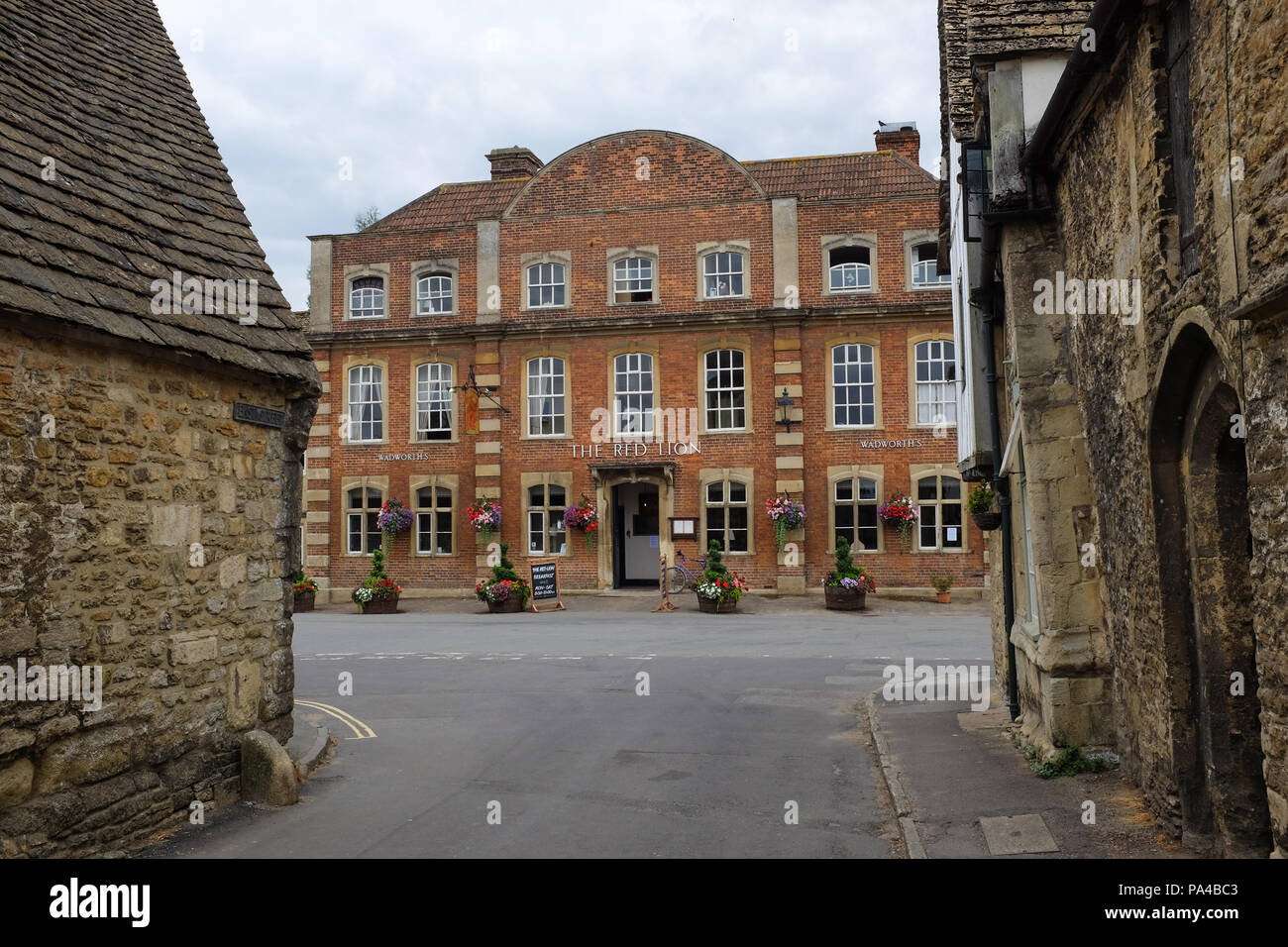 Buildings in the village of Lacock in Wiltshire, England. - Stock Image
