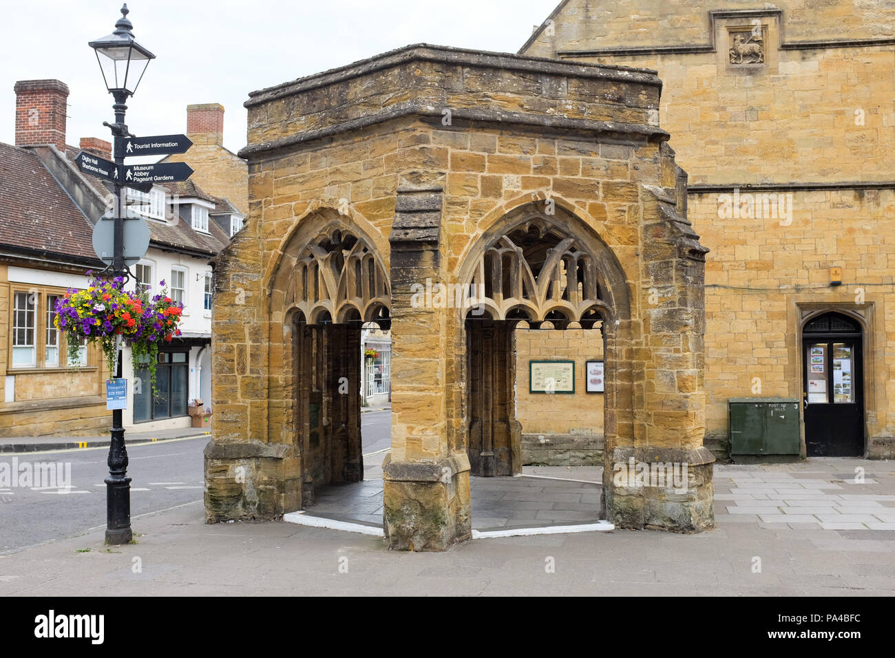 The Conduit at the bottom of Cheap Street in Sherborne, Dorset, England. - Stock Image
