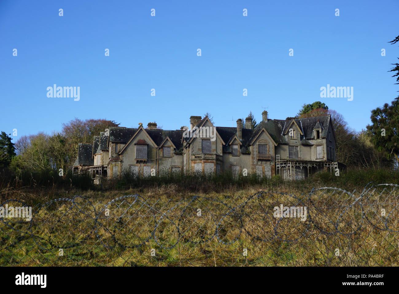 Northern Ireland's most haunted house, Abandoned villa - Stock Image