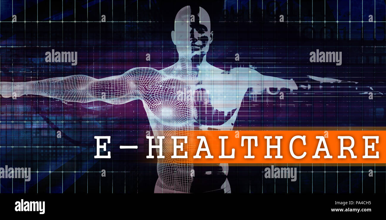 E-healthcare Medical Industry with Human Body Scan Concept Stock Photo