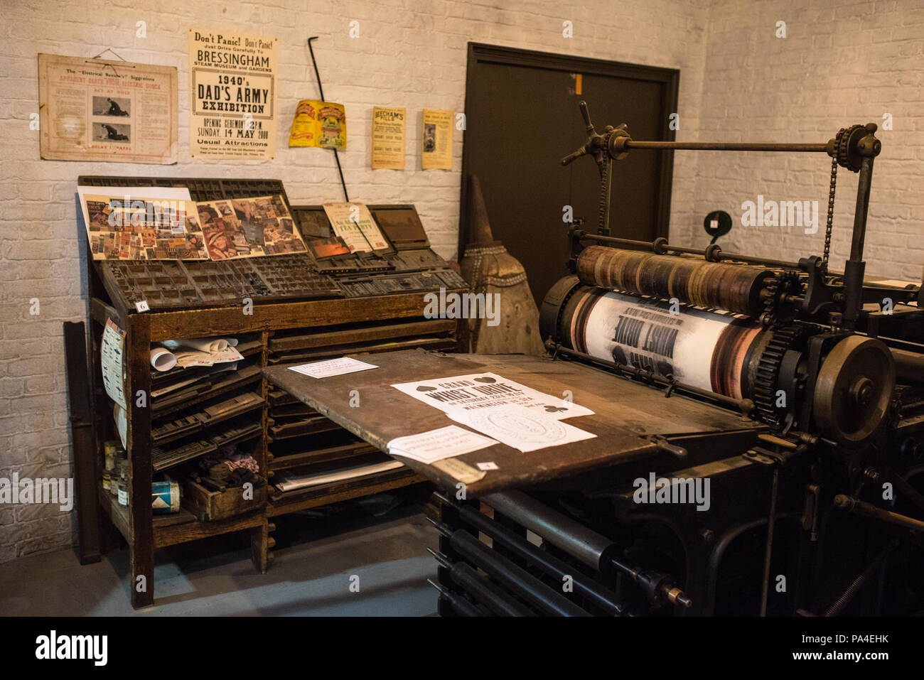 Old print room - Stock Image