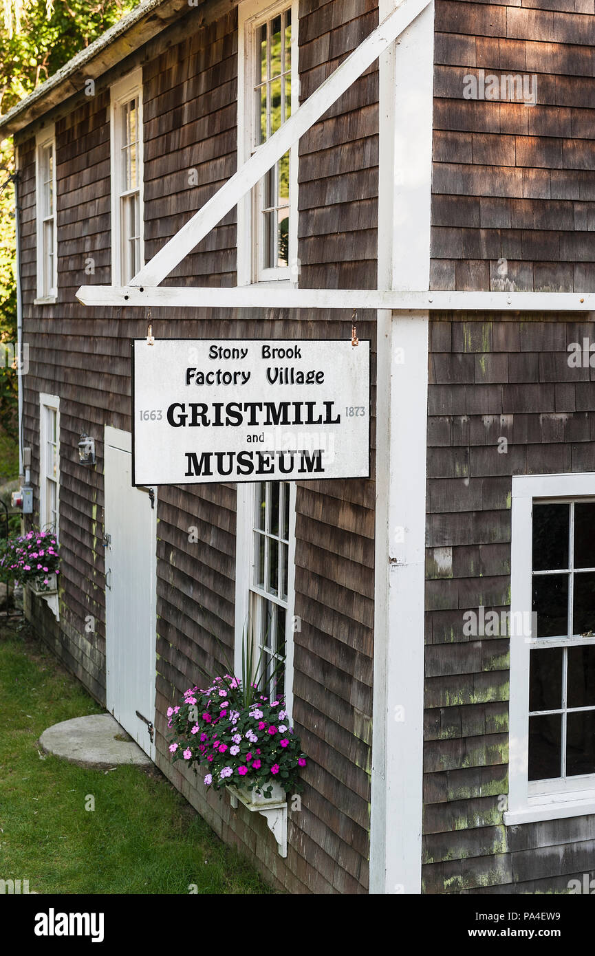 Stony Brook Grist Mill & Museum, Brewster, Cape Cod, Massachusetts, USA. - Stock Image