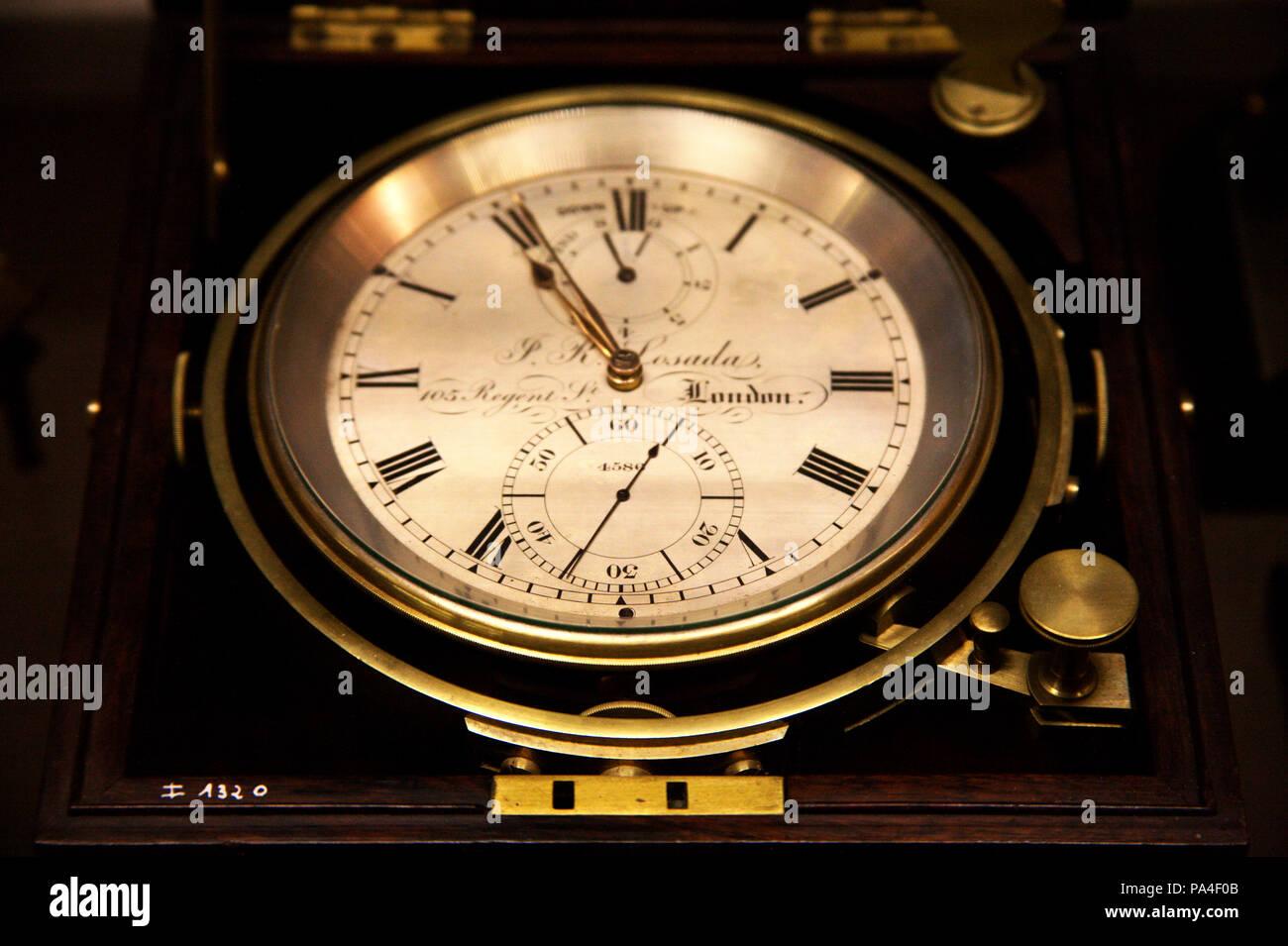 Marine chronometer, 18th-19th century, Europe - Stock Image