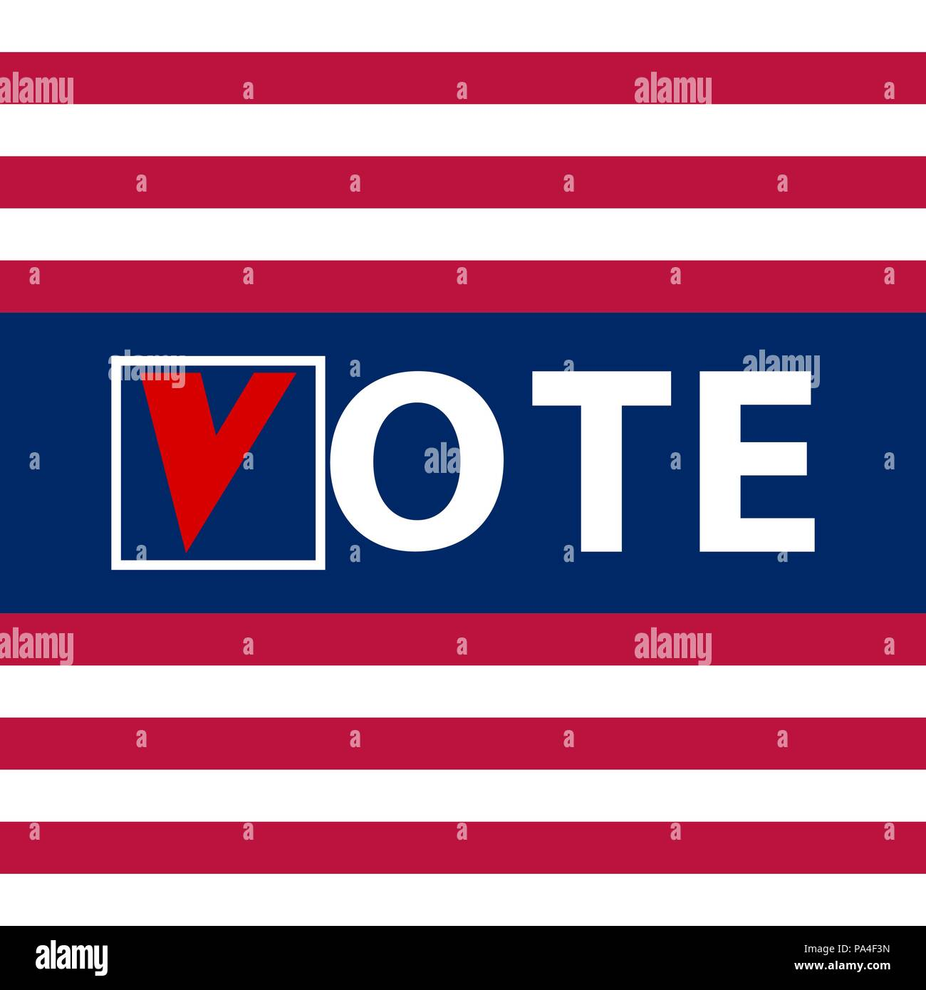 US Elections vector illustration - Stock Image