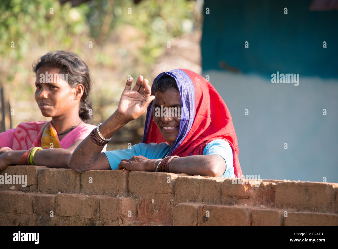 Indian Village Woman Stock Photos & Indian Village Woman