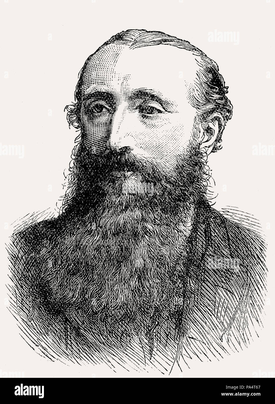 Edward Henry Palmer,  1840 – 1882, an English orientalist and explorer, From British Battles on Land and Sea, by James Grant - Stock Image