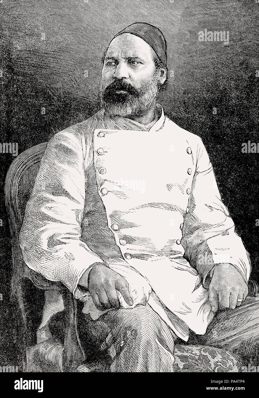 Colonel Ahmed 'Urabi or Ourabi, 1841 –  1911, an Egyptian nationalist, revolutionary and an officer of the Egyptian army, From British Battles on Land - Stock Image