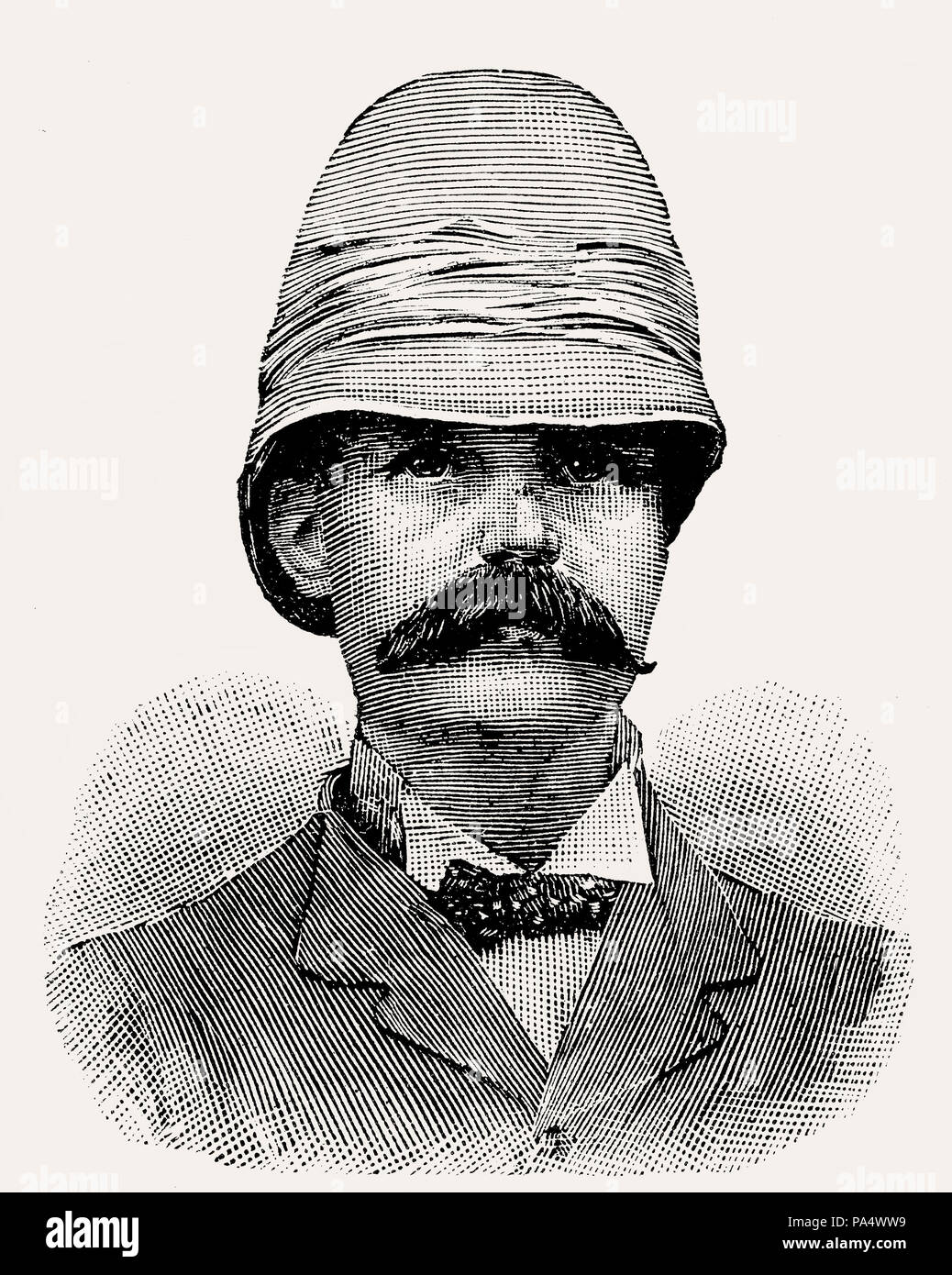 Sir George Scott Robertson, 1852 – 1916, a British soldier, author and administrator, From British Battles on Land and Sea, by James Grant - Stock Image