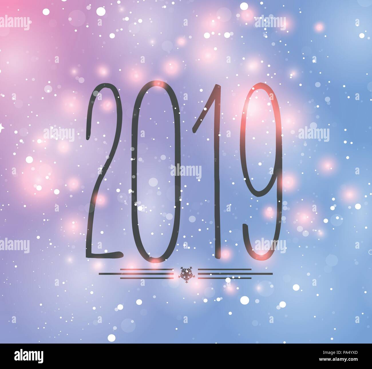 happy new year 2019 background colorful greeting card vector illustration