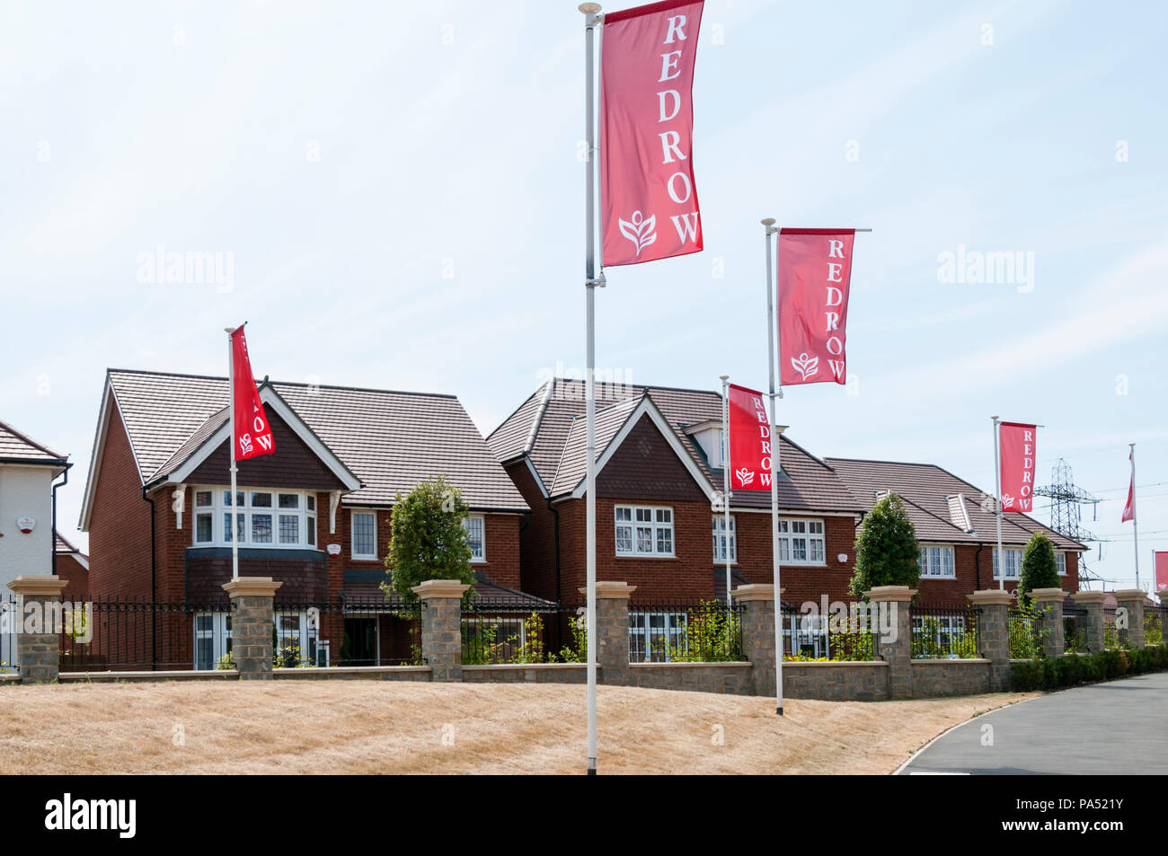 Show homes for housing by Redrow at Ebbsfleet Garden City in Kent. - Stock Image