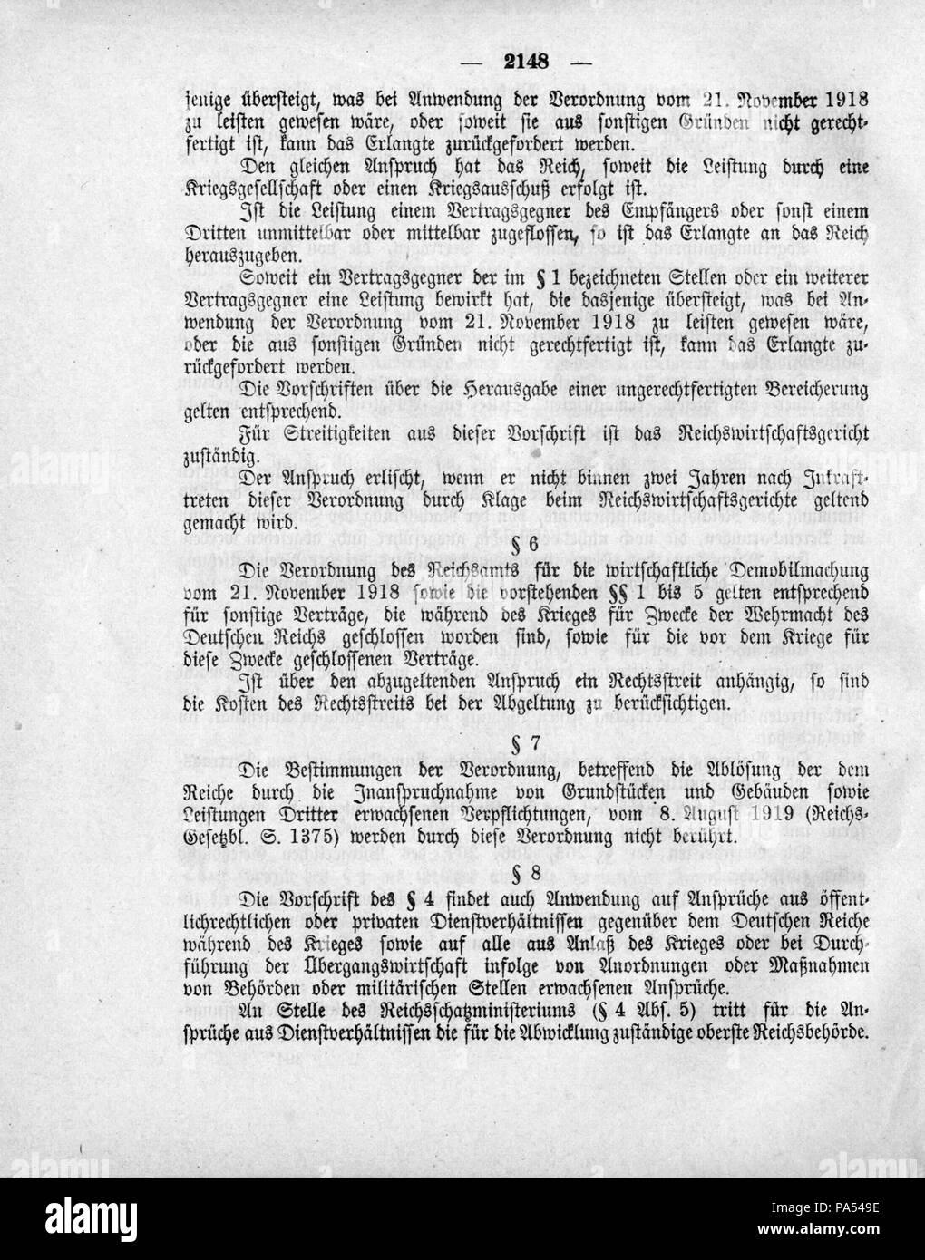 497 Deutsches Reichsgesetzblatt 1919 249 2148 Stock Photo 212784138