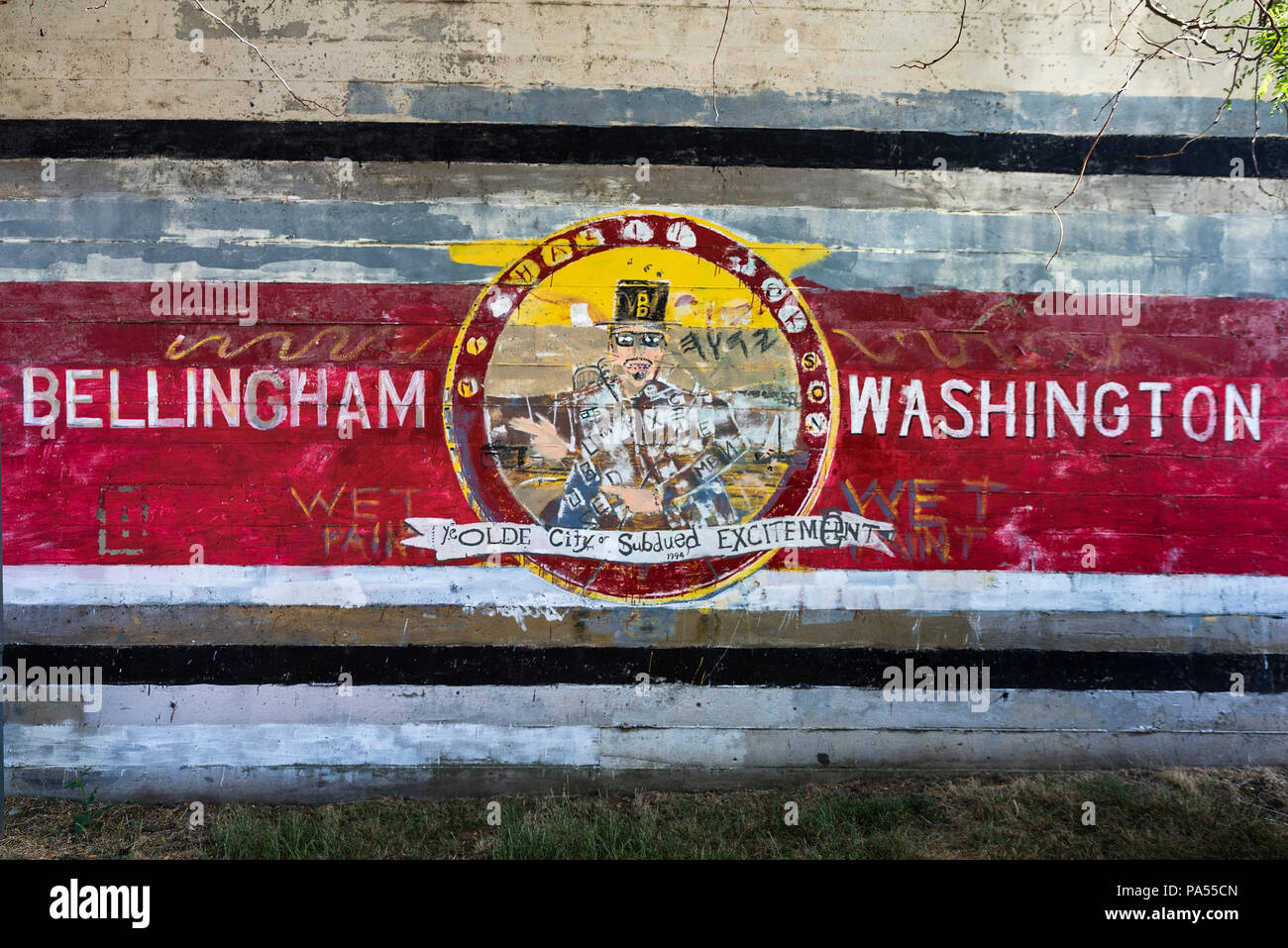 Wall Mural, Bellingham, Washington State, USA Stock Photo