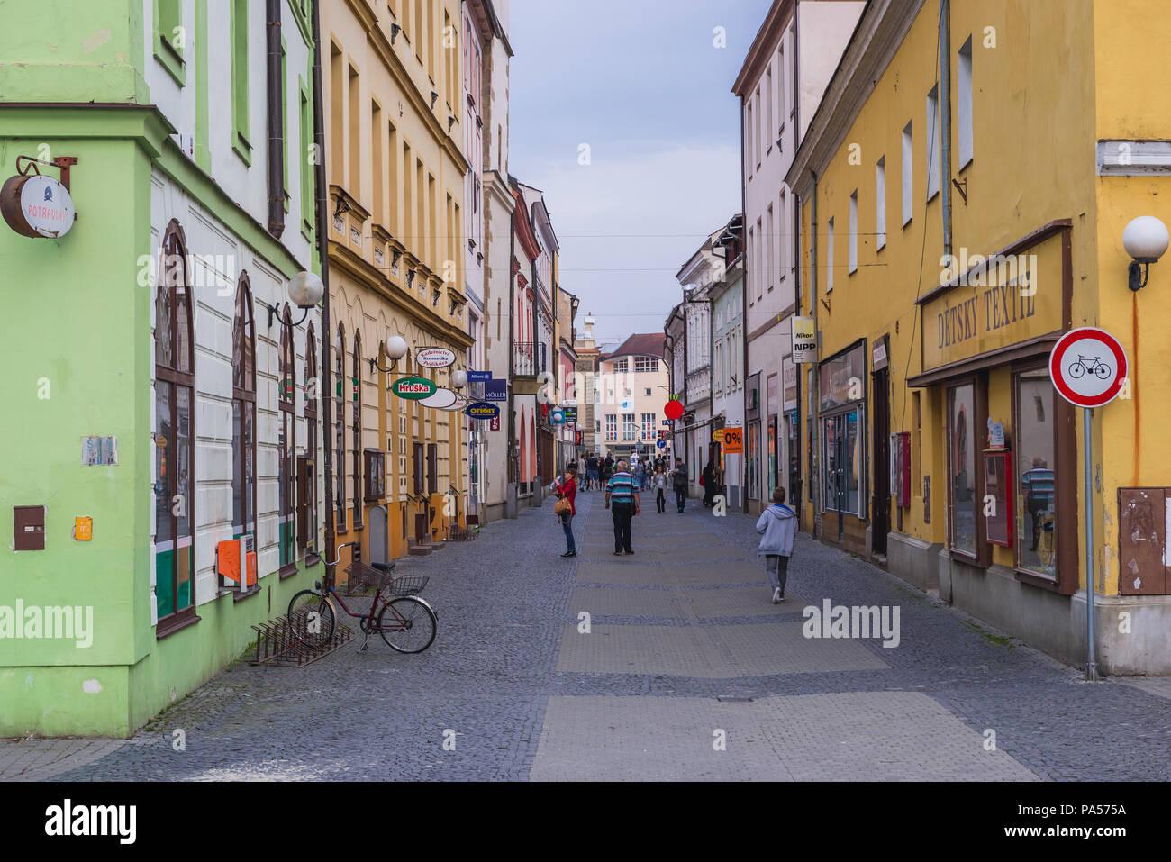 Old Town of Uherske Hradiste city in Zlin Region, Moravia in Czech Republic - Stock Image