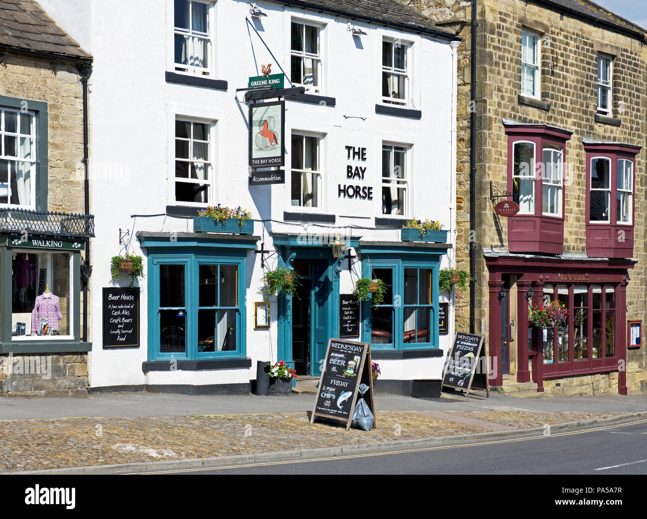 The Bay Horse pub, Masham, North Yorkshire, England UK - Stock Image