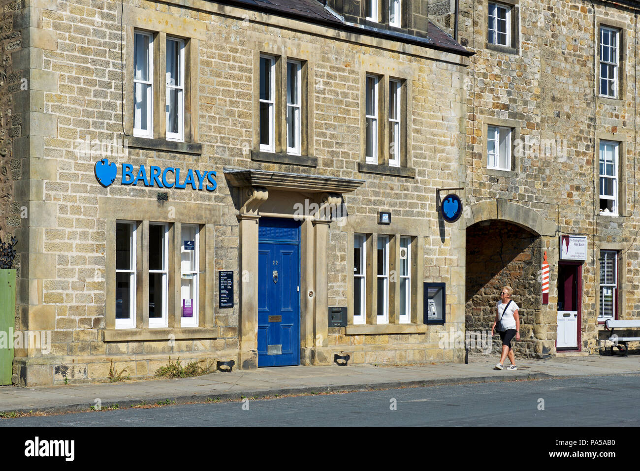 Branch of Barclay's Bank in Masham, North Yorkshire, England UK - Stock Image