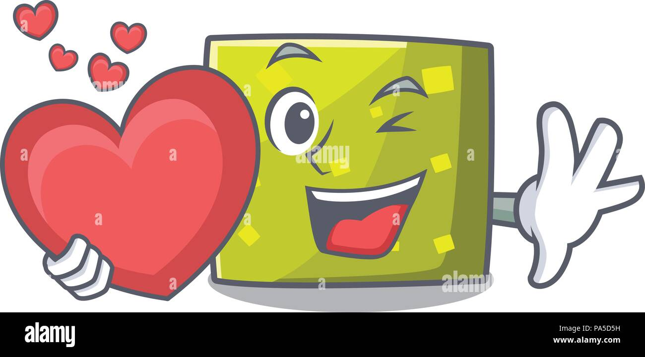 With heart square mascot cartoon style vector illustration Stock ... 1414297719d