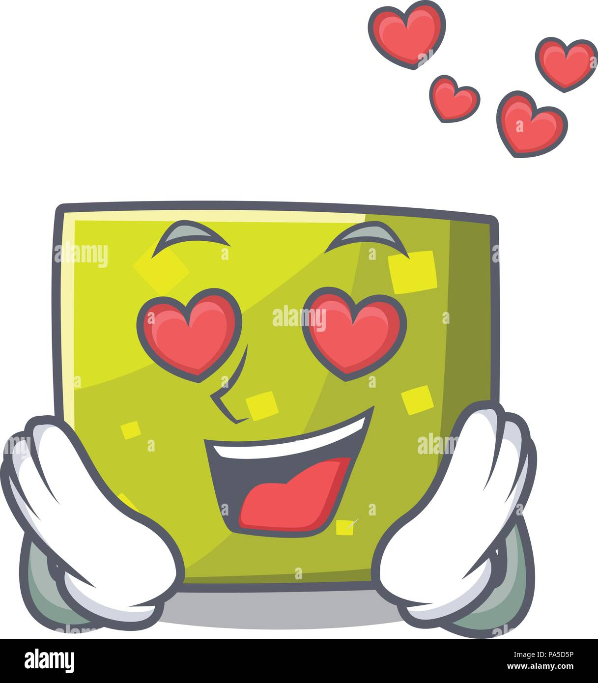 In love square mascot cartoon style Stock Vector Art   Illustration ... 9ef2ab99e7b