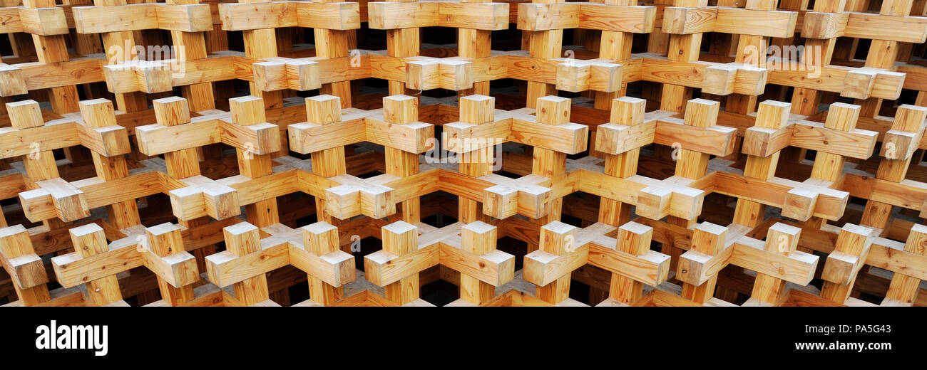 seamless texture of wooden blocks in collage background repeated crosses with 3d effect