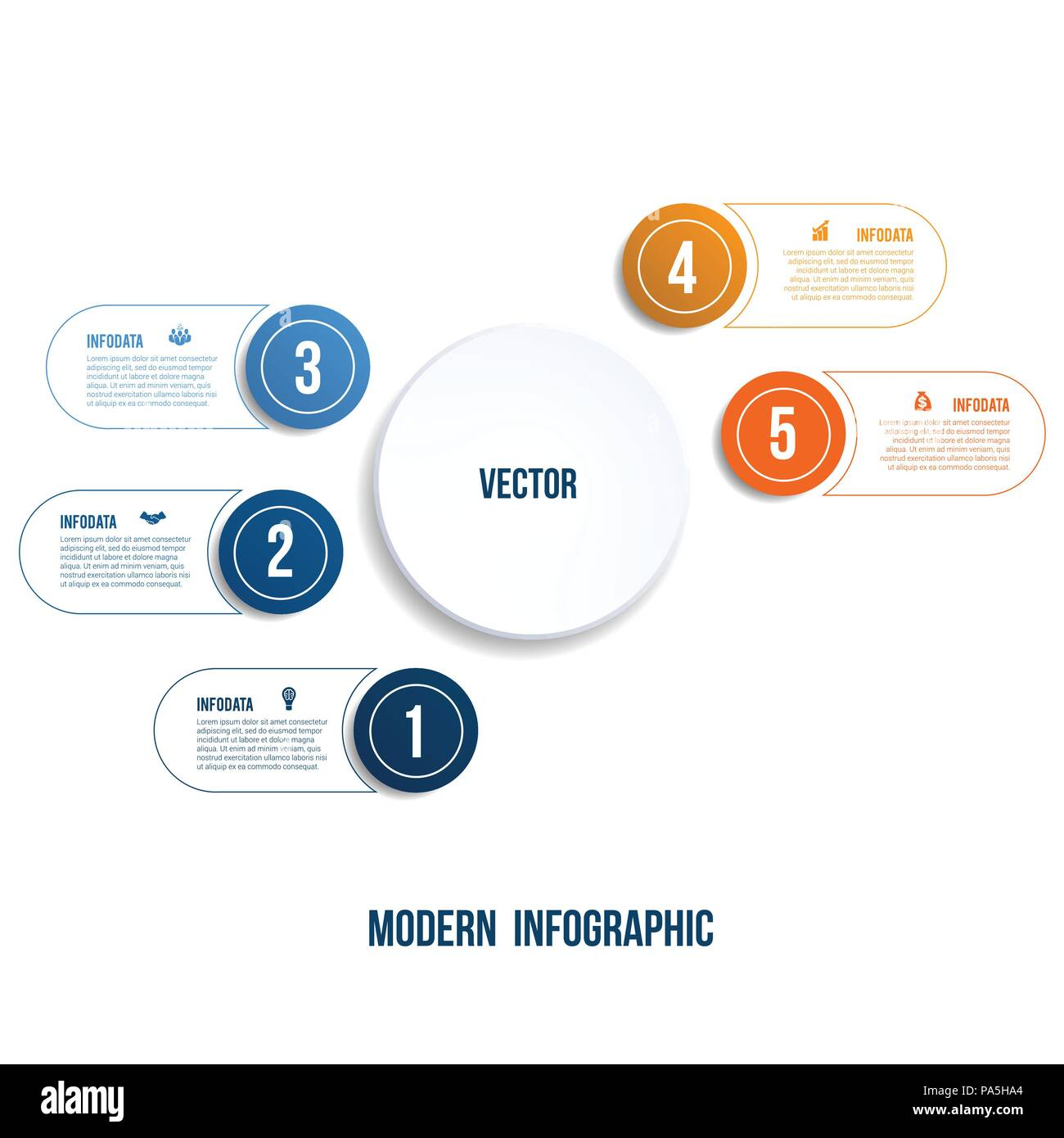 Modern Infographic  Chart template for presentation 5