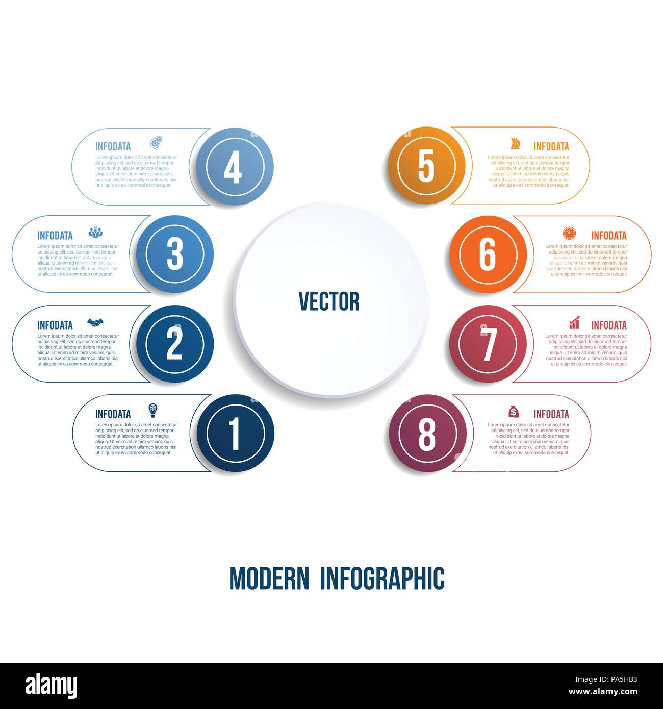 modern infographic chart template for presentation 8 options