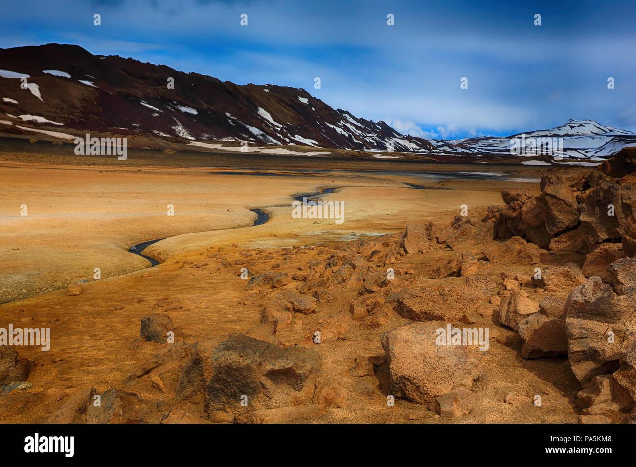Hverir Geothermal Springs - Stock Image