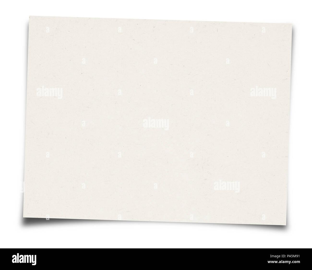 White Paper sheet isolated on white background - Stock Image