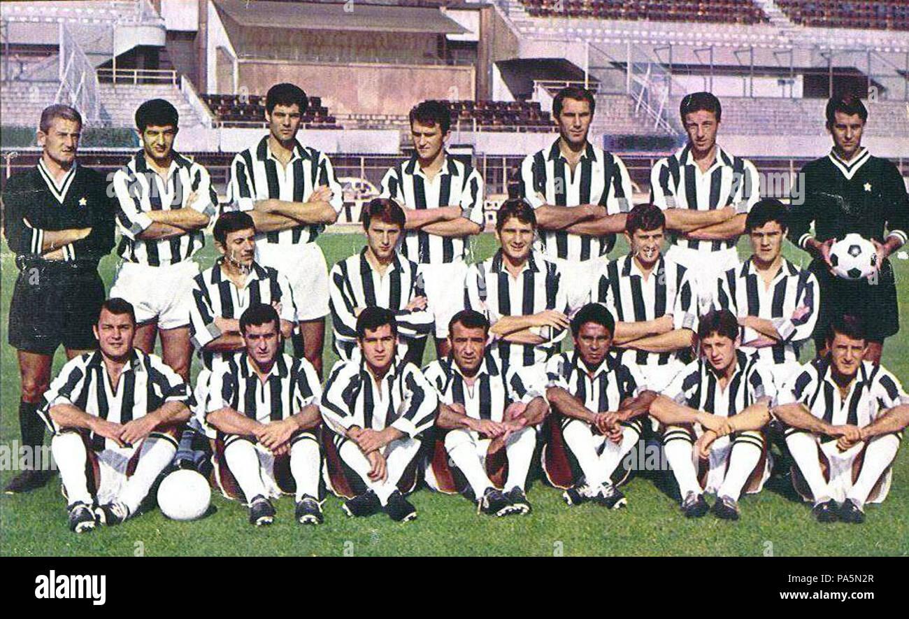 142 Juventus 1966-1967 - Stock Image