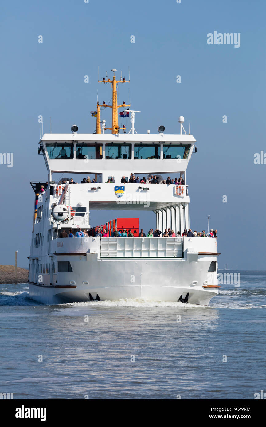 Ferry between Norden-Norddeich and Norderney island, East Frisia, Lower Saxony, Germany Stock Photo