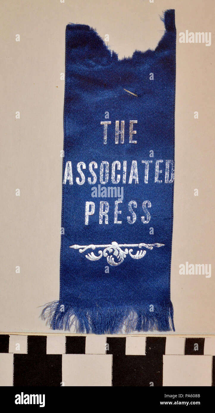 161 Associated Press Ribbon collected by George Hench at the 1904 World's Fair - Stock Image
