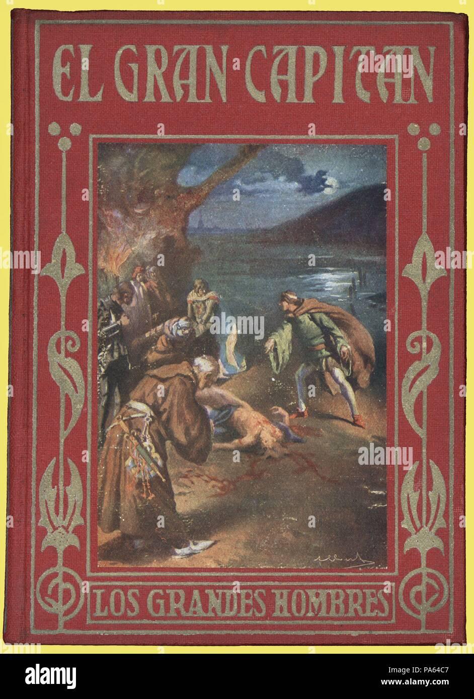 El Gran Capitán. Gonzalo Fernández de Córdoba. Portada del libro de la Colección Los grandes hombres de Editorial Araluce, de Barcelona. Año 1950. - Stock Image