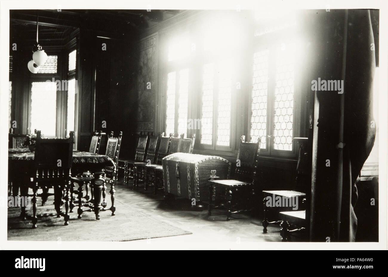93 Fotografi, Matsal i f.d Stor Villan, som byggdes av Greve W. v. Hallwyl - Hallwylska museet - 108008 - Stock Image