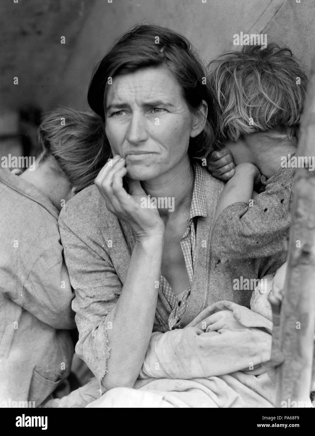 Dorothea Lange / 'Migrant Mother', Nipomo, 1936. - Stock Image