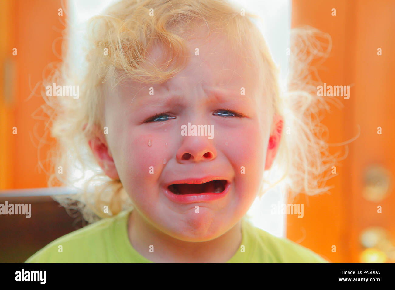 Toddler with tears - Stock Image