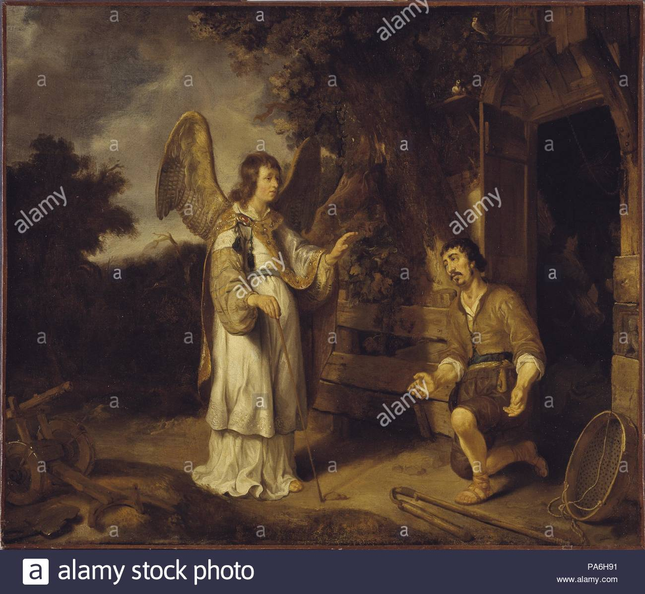 The Angel of the Lord Visits Gideon. Museum: Nationalmuseum Stockholm. - Stock Image