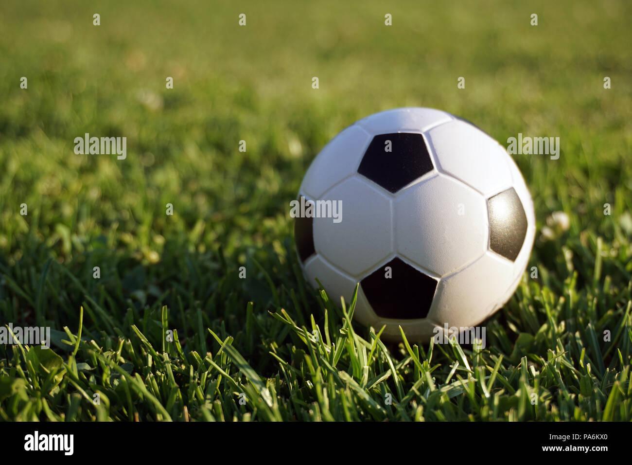 mini football at sports field Stock Photo