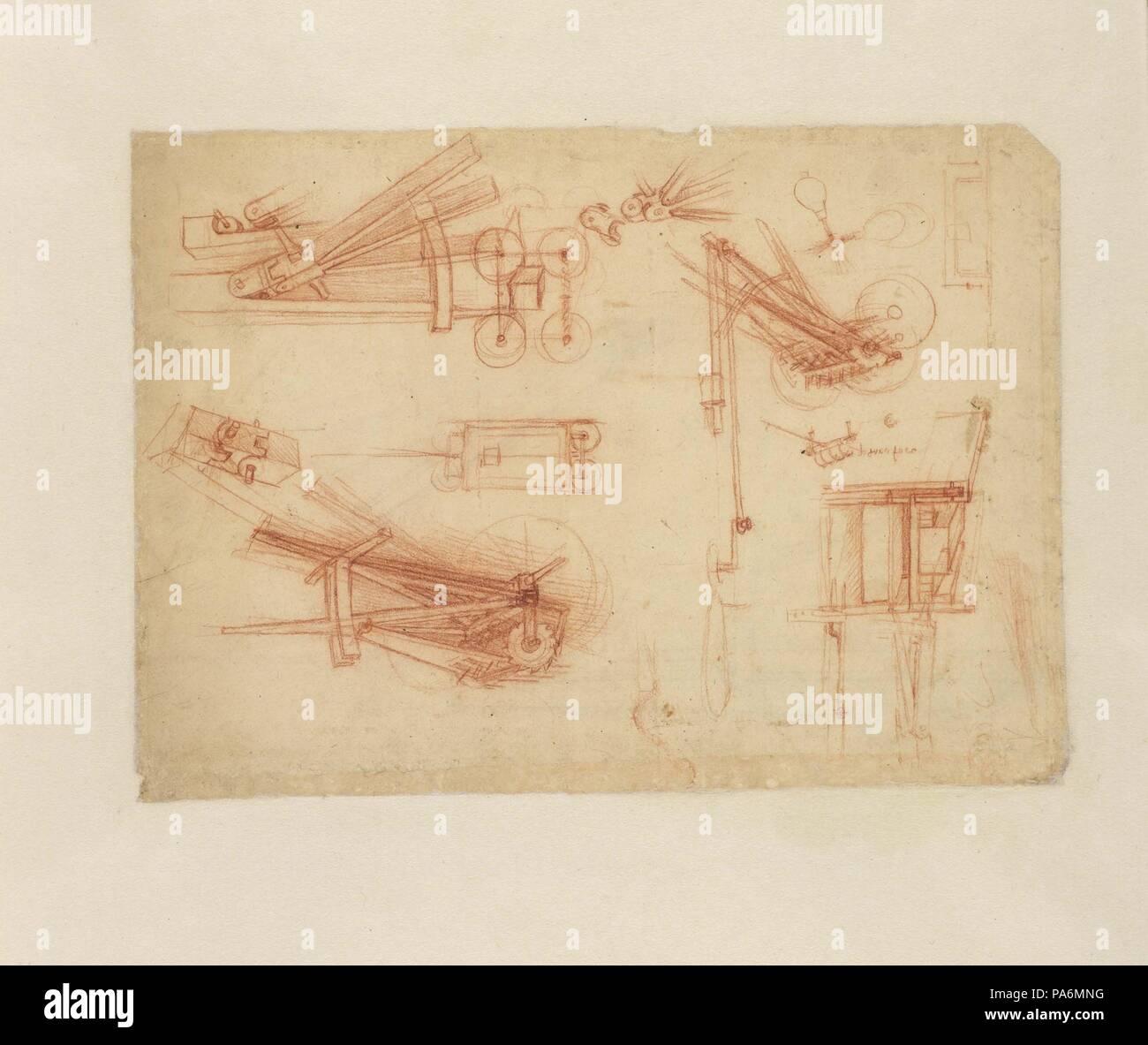 Biblioteca Ambrosiana Stock Photos Catapult Diagram Viewing Gallery Catapults Museum Veneranda Image