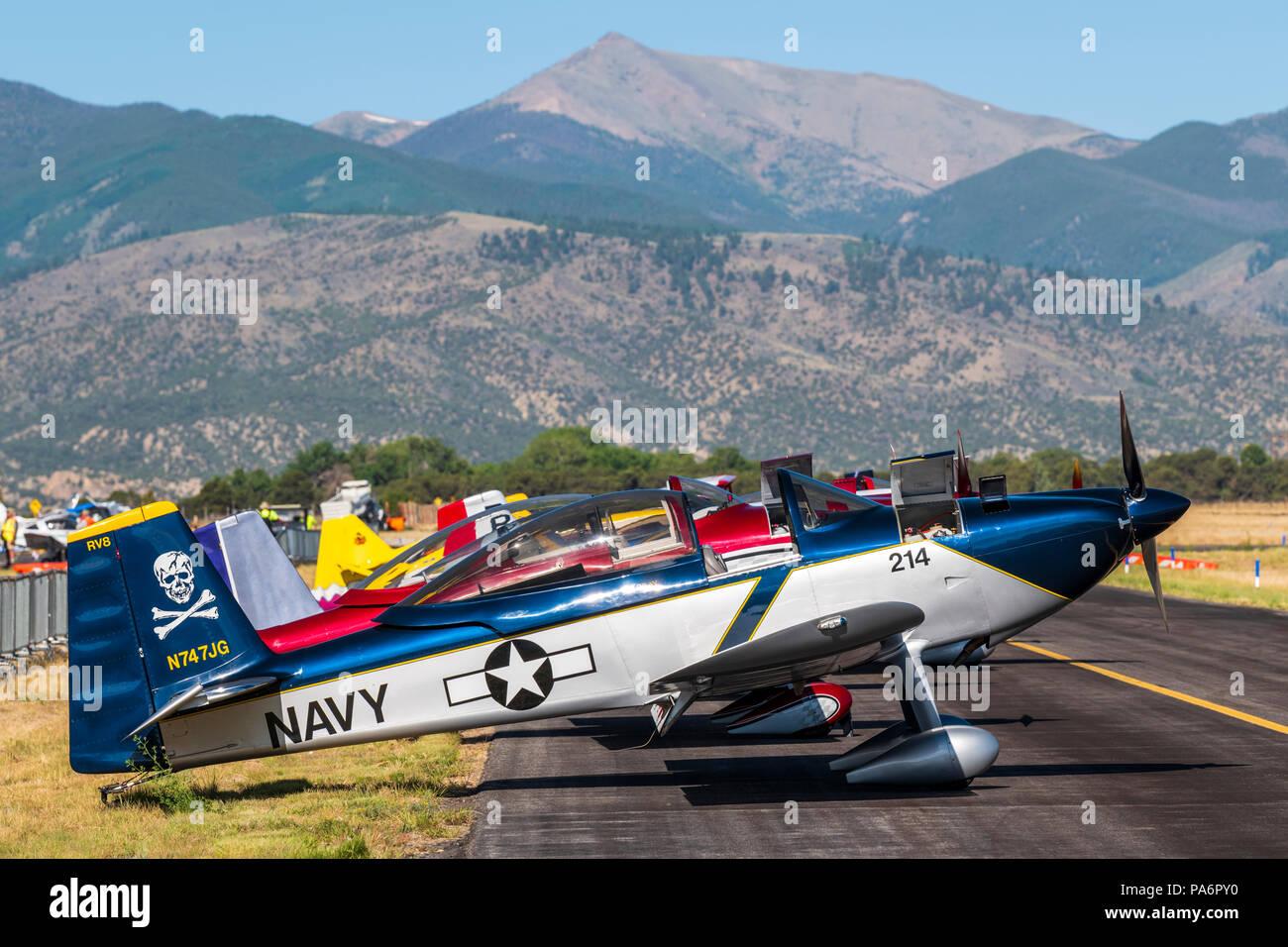 Van's Aircraft RV-8; Harriett Alexander Field; air show; Salida; Colorado; USA - Stock Image