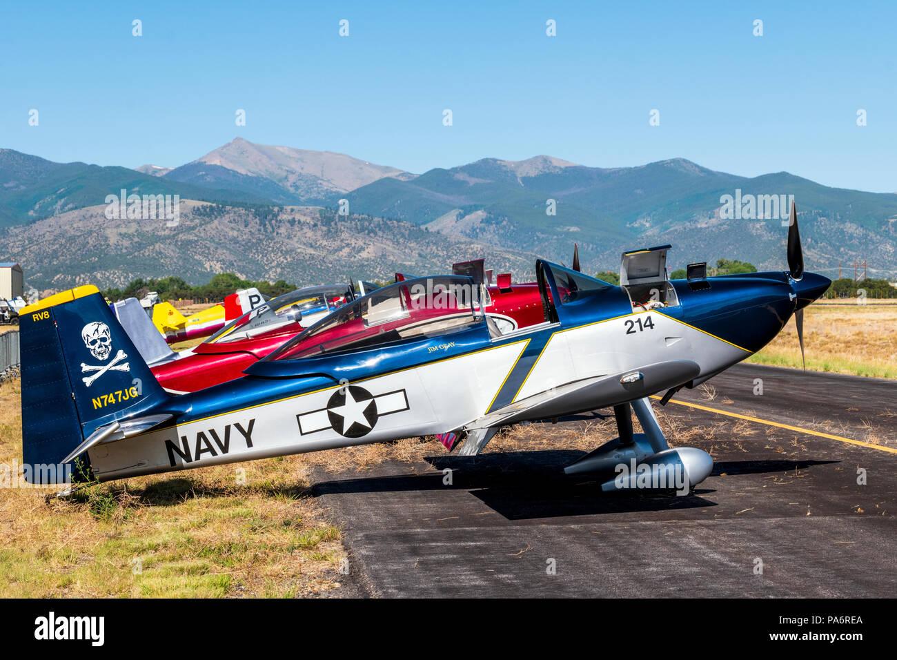 Van's Aircraft RV-8; Harriett Alexander Field; air show; Salida; Colorado; USA Stock Photo