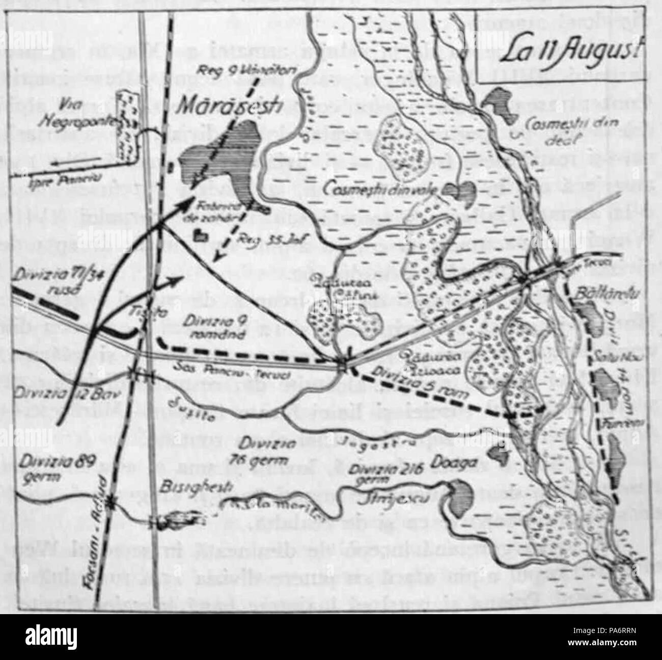 5 1929 Harta Bat De La Marasesti 11 Aug 1917 Kiritescu Ii 532