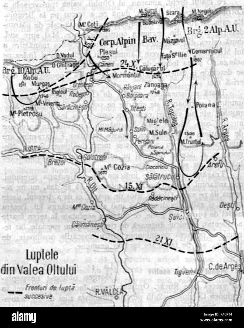 5 1929 Harta Luptelor Din Valea Oltului Kiritescu Ii 72 Stock
